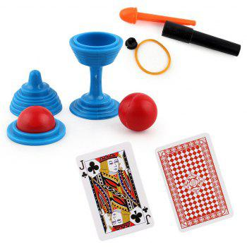 Magic Cup Bead Come Street Trick Kids Children Toys - BLUE