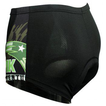 Twotwowin KK6 Men's Cycling Underwear with 3D CoolMax Pad - BLACK 2XL
