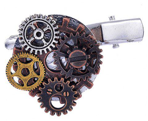 2018 Hair Accessories Hair Clips Steampunk Gears Exaggerated Personality Duckbil - multicolor
