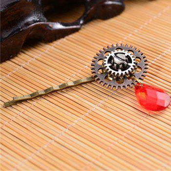 European and American Foreign Trade Popular Steampunk Gear Alloy Hair Clips - multicolor