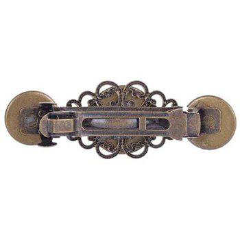 New Style Exaggerated Jewelry Steampunk Gear Alloy Spring Clip Hairpin - DEEP BROWN