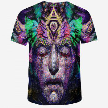 2018 New Casual Fashion 3D Printed Men's Short Sleeve T-shirt - multicolor 3XL