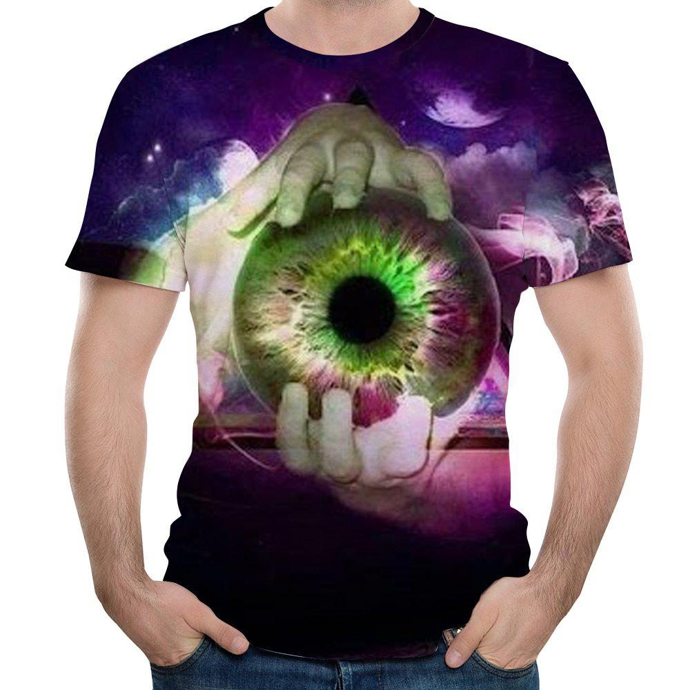 New Fashion Apple 3D Printed Men's Short Sleeve T-shirt - multicolor XL