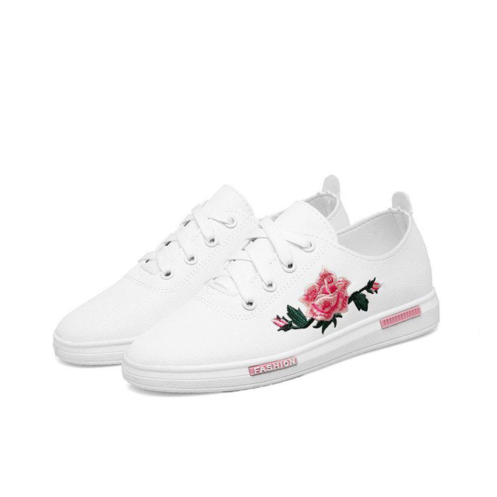 2018 New Casual Shoes All-match Embroidery - Pink - 39