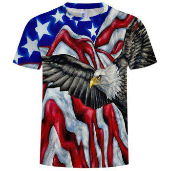 2018 Summer New 3D Printing Wings Fly High-Flying Men'S Short-Sleeved T-shirts - multicolor I M