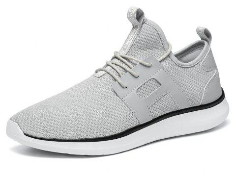 Breathable Casual Fly-Woven Sports Men Shoes - PLATINUM 39