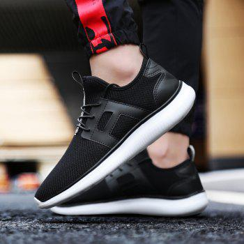Breathable Casual Fly-Woven Sports Men Shoes - BLACK 40