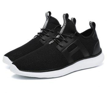 Breathable Casual Fly-Woven Sports Men Shoes - BLACK 48