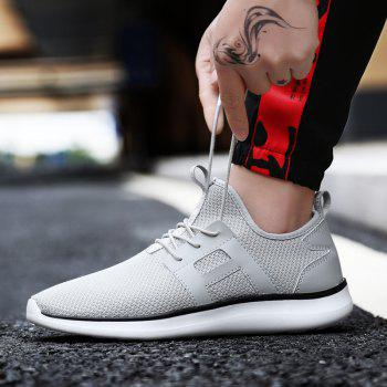 Breathable Casual Fly-Woven Sports Men Shoes - PLATINUM 40