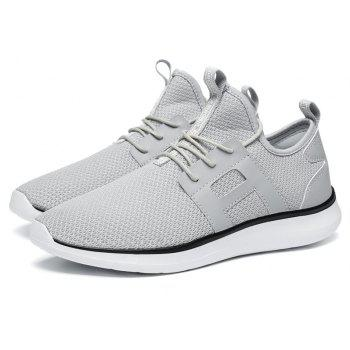 Breathable Casual Fly-Woven Sports Men Shoes - PLATINUM 41