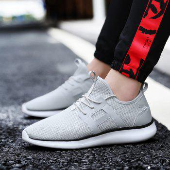Breathable Casual Fly-Woven Sports Men Shoes - PLATINUM 46