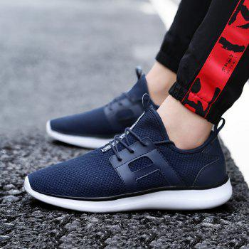 Breathable Casual Fly-Woven Sports Men Shoes - DENIM DARK BLUE 42