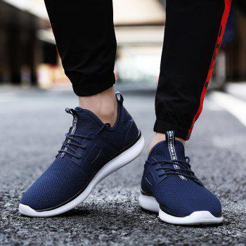 Breathable Casual Fly-Woven Sports Men Shoes - DENIM DARK BLUE 44