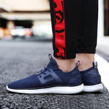 Breathable Casual Fly-Woven Sports Men Shoes - DENIM DARK BLUE 39