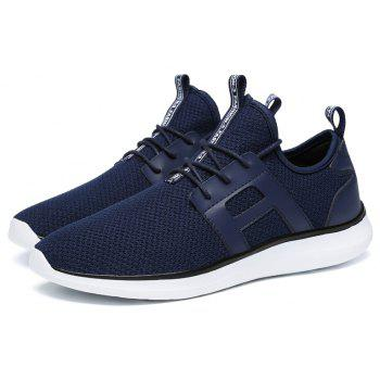 Breathable Casual Fly-Woven Sports Men Shoes - DENIM DARK BLUE 41
