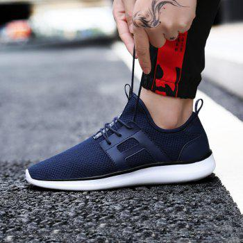 Breathable Casual Fly-Woven Sports Men Shoes - DENIM DARK BLUE 46