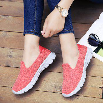 Breathable Casual Running Shoes - PINK 42