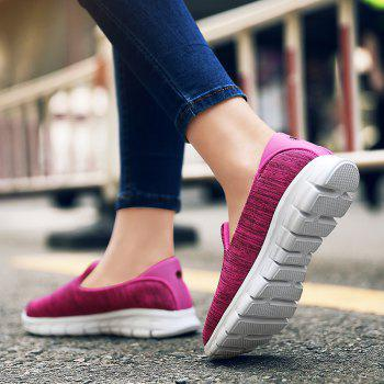 Breathable Casual Running Shoes - ROSE RED 35