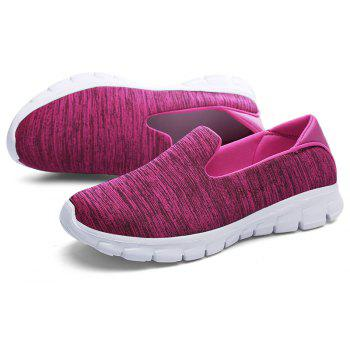 Breathable Casual Running Shoes - ROSE RED 38