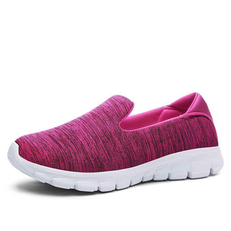 Breathable Casual Running Shoes - ROSE RED 37