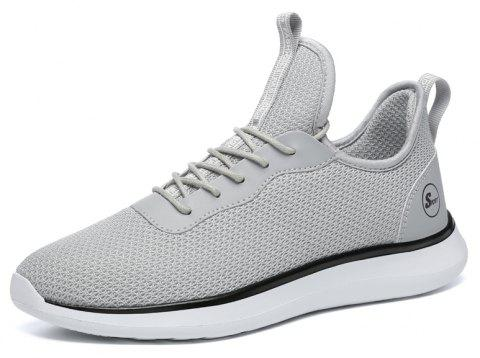 Lightweight Casual Breathable Sports Men Shoes - PLATINUM 43