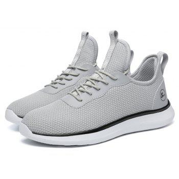 Lightweight Casual Breathable Sports Men Shoes - PLATINUM 39