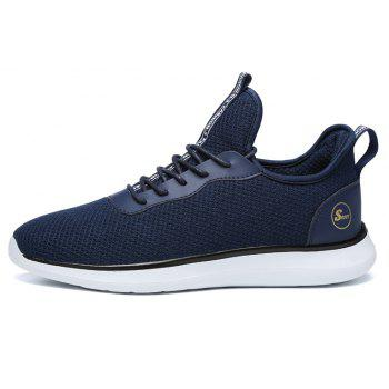 Lightweight Casual Breathable Sports Men Shoes - DENIM DARK BLUE 45
