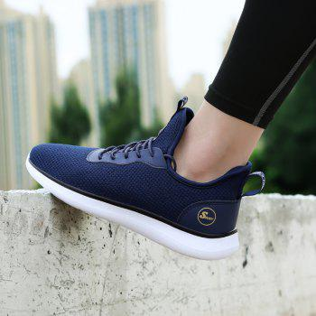 Lightweight Casual Breathable Sports Men Shoes - DENIM DARK BLUE 43