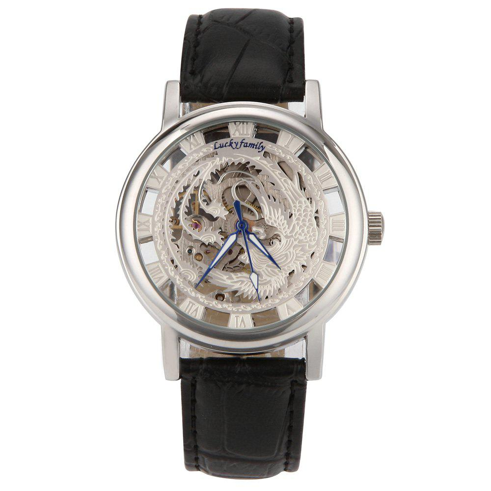 Lucky Family G8111 Auspicious Phoenix Mechanical Watches - WHITE