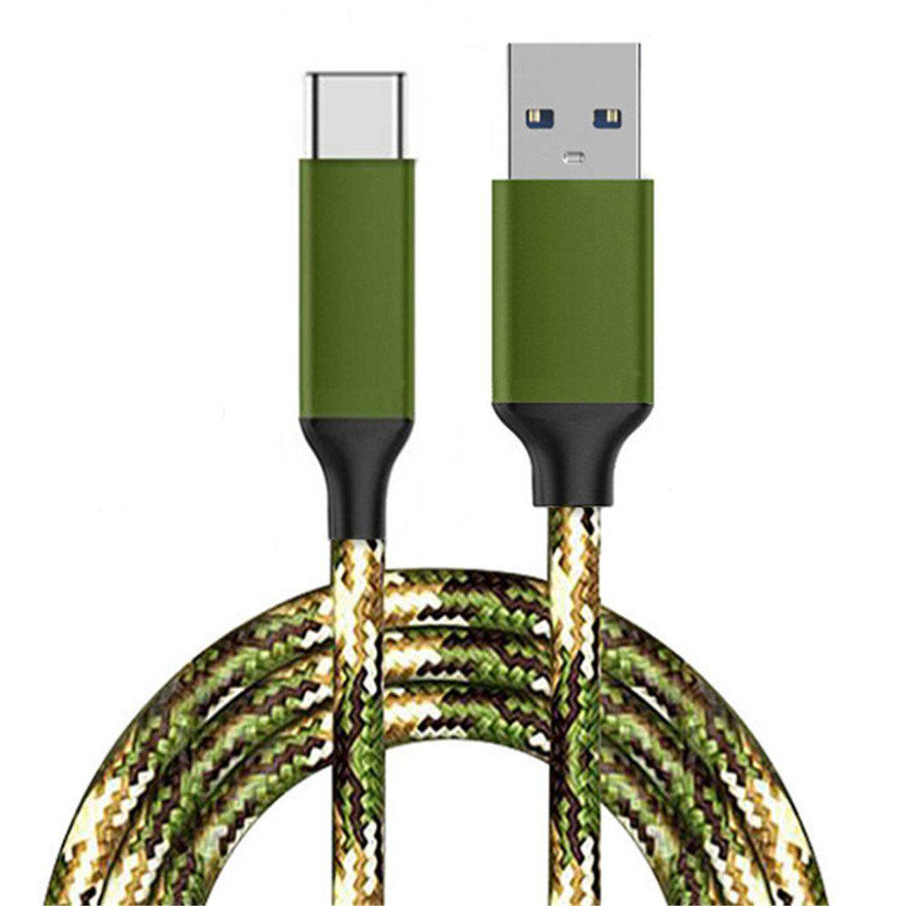 Type-c Cable USB A 3.0 Nylon Braided Fast Charging Cord for Galaxy S9 S8 Note 8 - ACU CAMOUFLAGE
