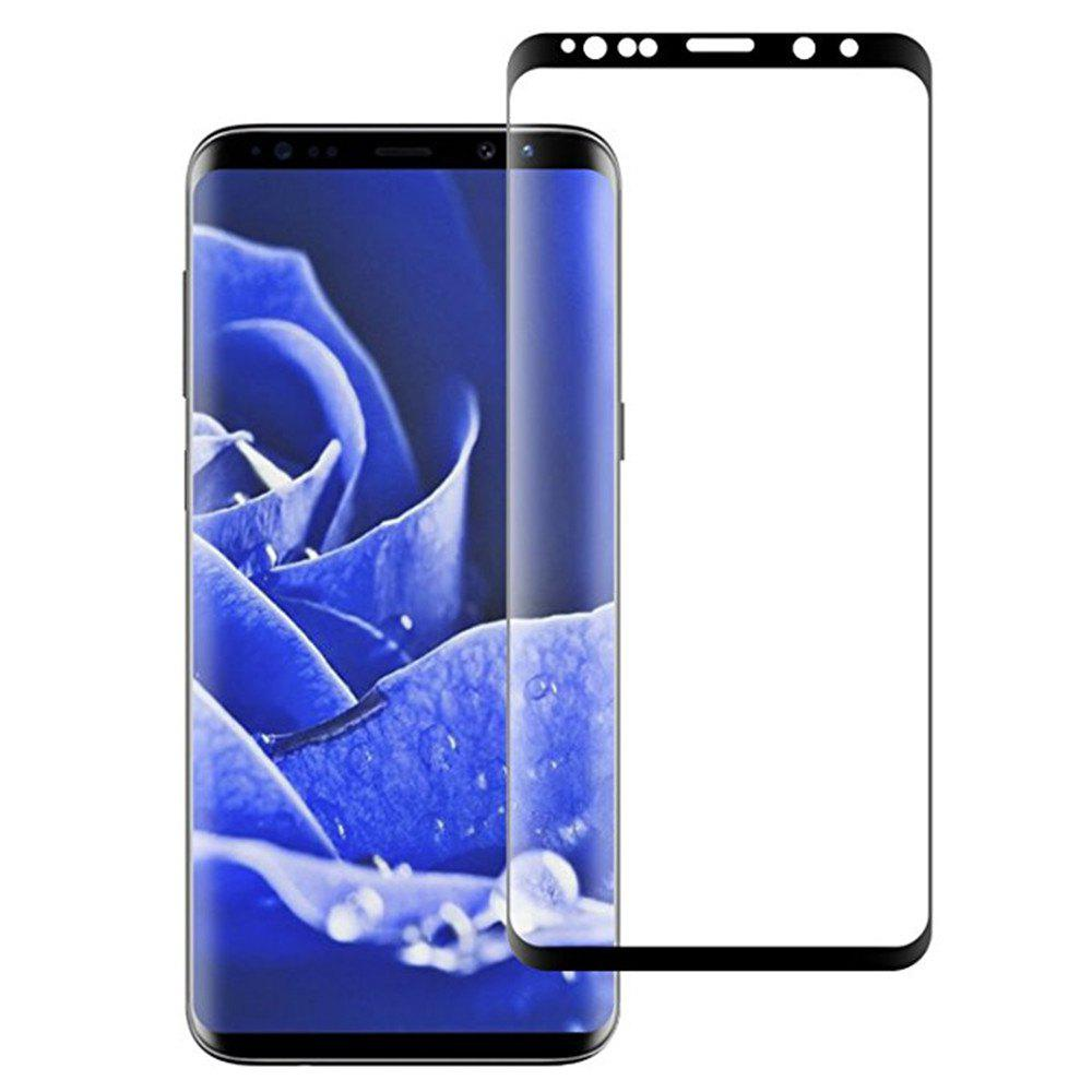 for Galaxy S9 Screen Protector 3D Tempered Glass Full Coverage High Definition - BLACK