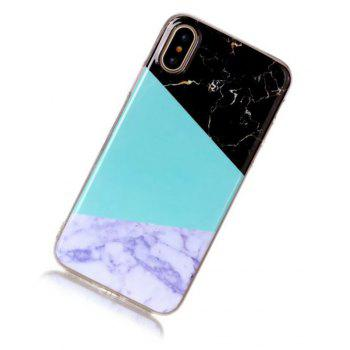 Perfect Fitted Beautiful Marble Grain TPU Case for iphone X - ROYAL BLUE