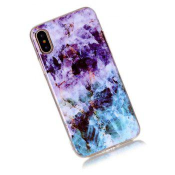 Perfect Fitted Beautiful Marble Grain TPU Case for iphone X - PURPLE