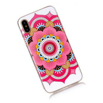 Perfect Fitted Beautiful Flower TPU Case for iphone X - RED