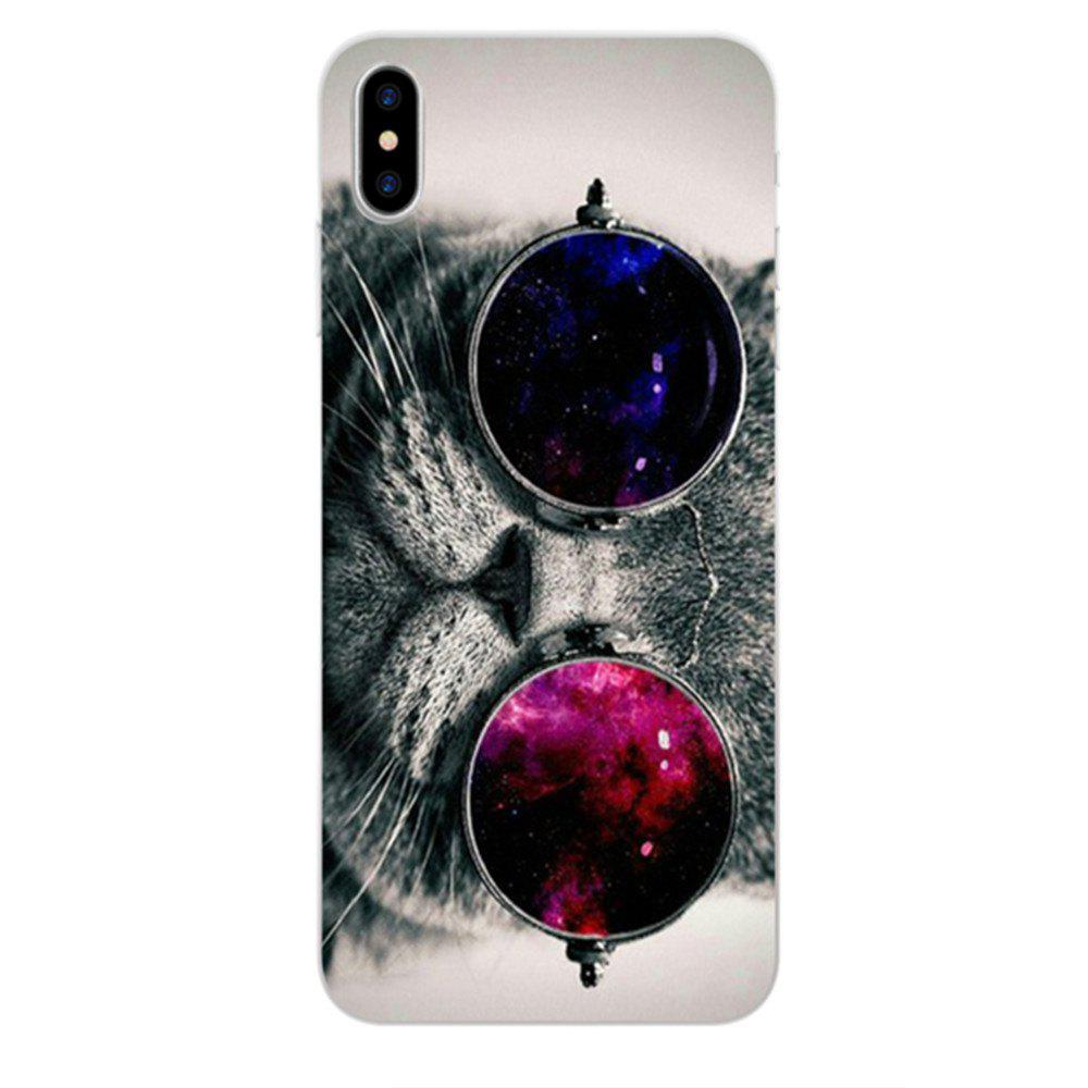Perfect Fitted Beautiful Black Cat TPU Case for iphone X - NIGHT
