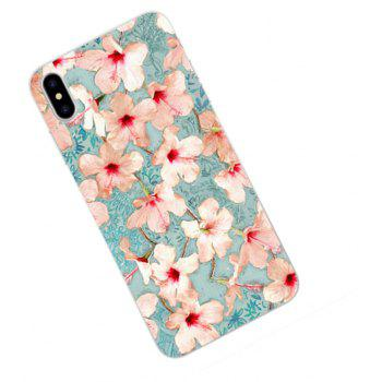 Perfect Fitted Beautiful Flowers TPU Case for iphone X - LIGHT BLUE