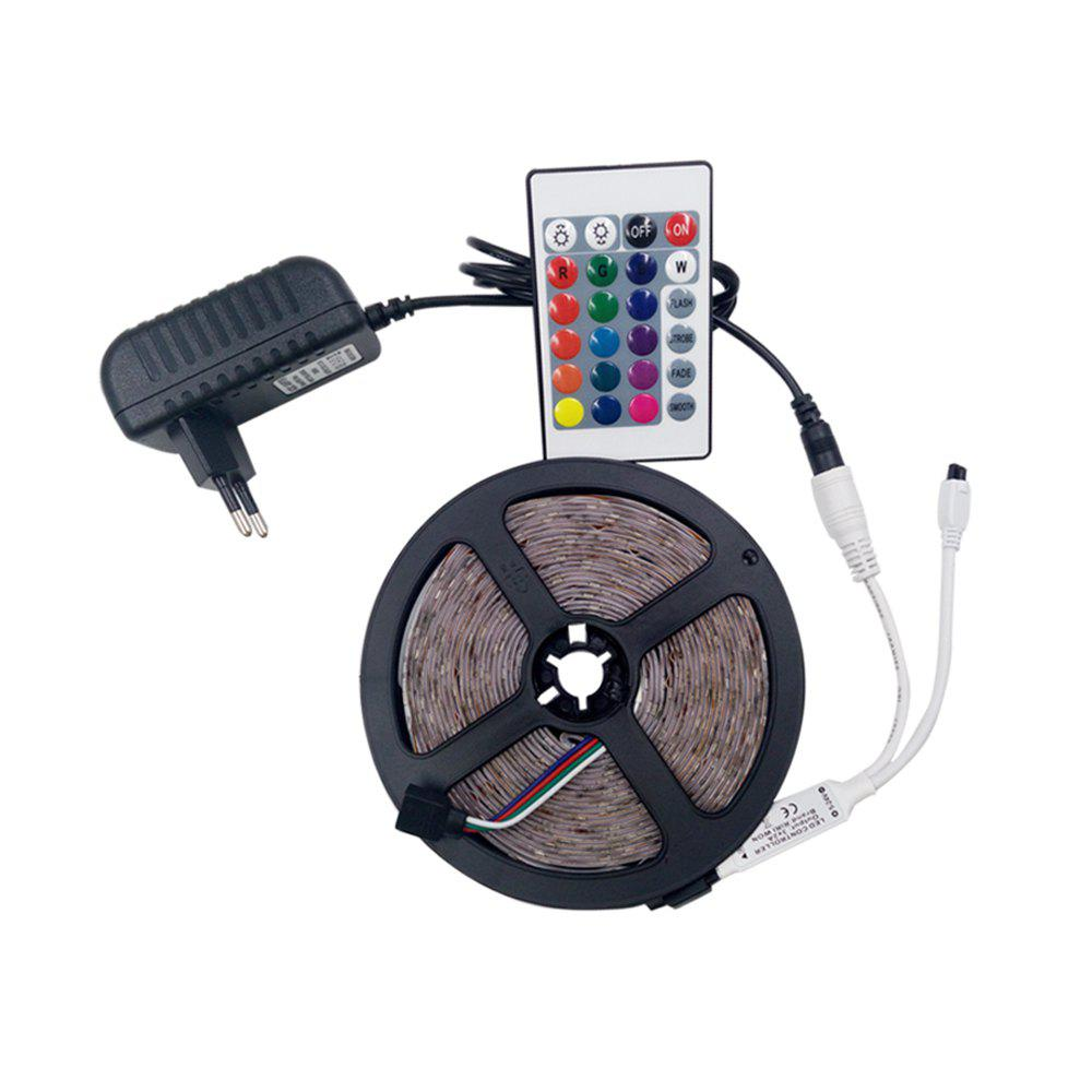 KWB  RGB LED Strip Light 300leds RGB 60leds/m with 24key Ir Remote Controller - multicolor WATERPROOF