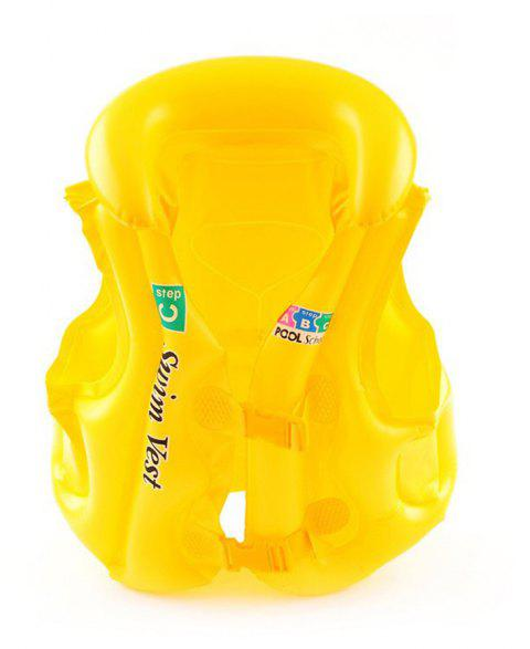 JL-17 PVC Children Inflatable Vest for Swimming - YELLOW SIZE M