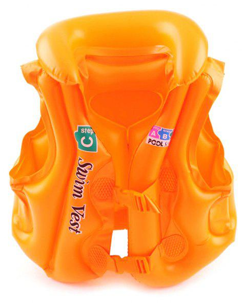 JL-17 PVC Children Inflatable Vest for Swimming - TANGERINE SIZE L