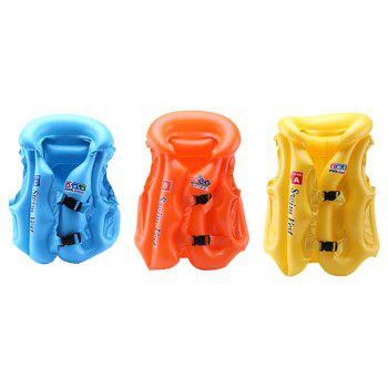 JL-17 PVC Children Inflatable Vest for Swimming - SKY BLUE SIZE L