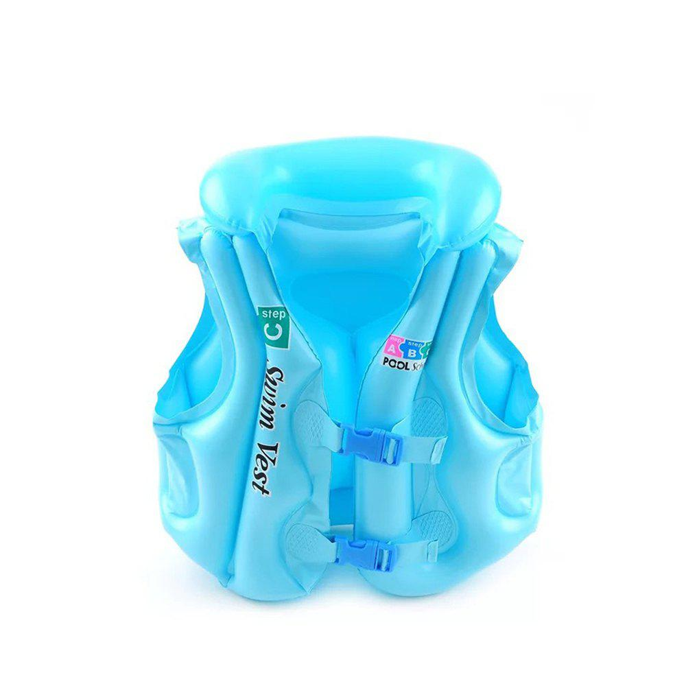 JL-17 PVC Children Inflatable Vest for Swimming - SKY BLUE SIZE M