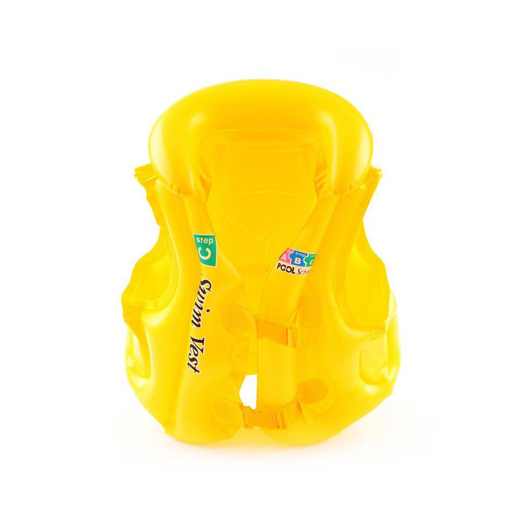 JL-17 PVC Children Inflatable Vest for Swimming - YELLOW SIZE S