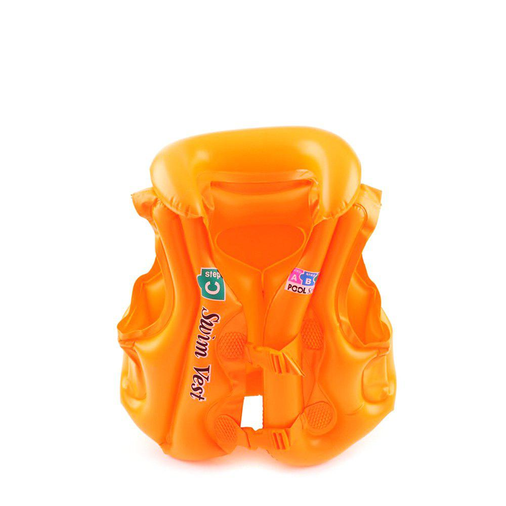 JL-17 PVC Children Inflatable Vest for Swimming - TANGERINE SIZE S