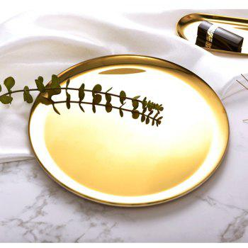 WX-31904 Nordic Style Metal Minimalistic Round Plant Tray - GOLD