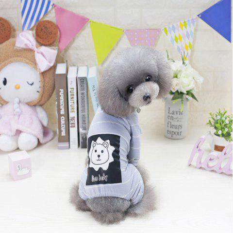Lovoyager VB1803 Spring and Summer 2018 New Simple Fashion Lions Home Clothes - LIGHT GRAY 2XL