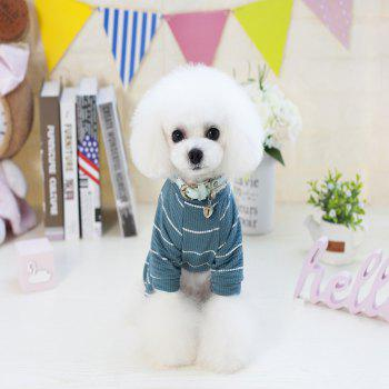 Lovoyager VB1803 Spring and Summer 2018 New Simple Fashion Lions Home Clothes - GREENISH BLUE M