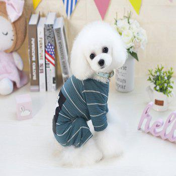 Lovoyager VB1803 Spring and Summer 2018 New Simple Fashion Lions Home Clothes - GREENISH BLUE XL