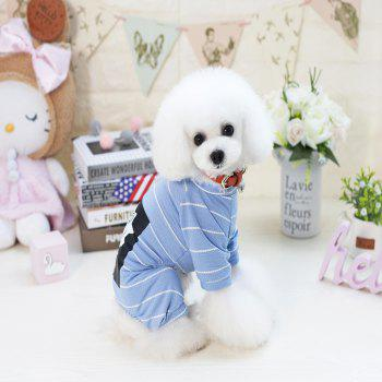 Lovoyager VB1803 Spring and Summer 2018 New Simple Fashion Lions Home Clothes - MIST BLUE 2XL