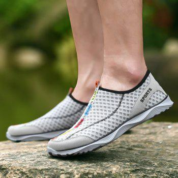 ZEACAVA Summer Breathable Hollow Soles Deodorant Men's Light Sets Mesh Shoes - DARK GRAY 44