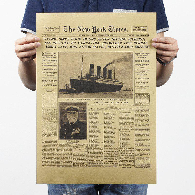 Retro Poster New York Times Wall Stickers retro poster guitar brief history wall sticker